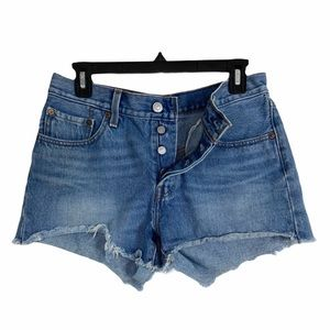 Levi's 501 cutoff denim jean shorts. Size 27